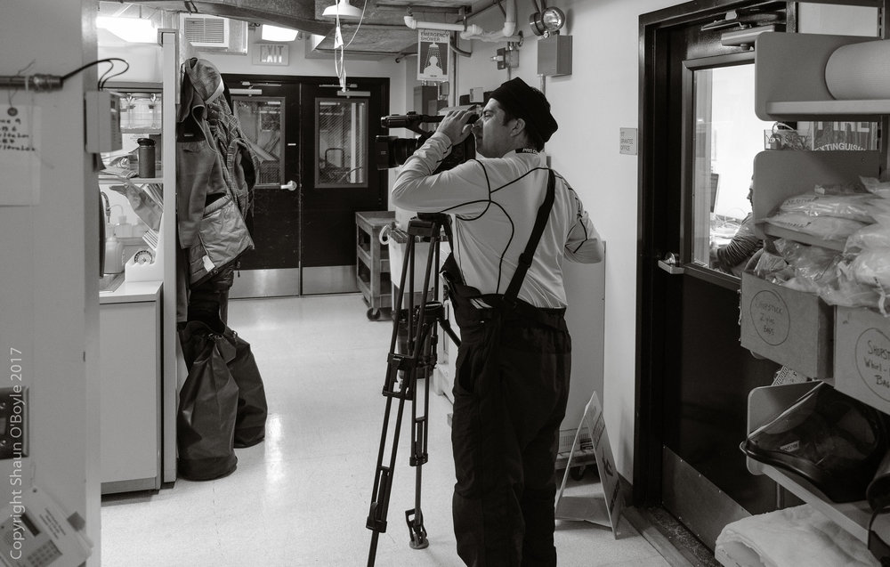 ASC videographer Ralph Maestas working in the Bio labs