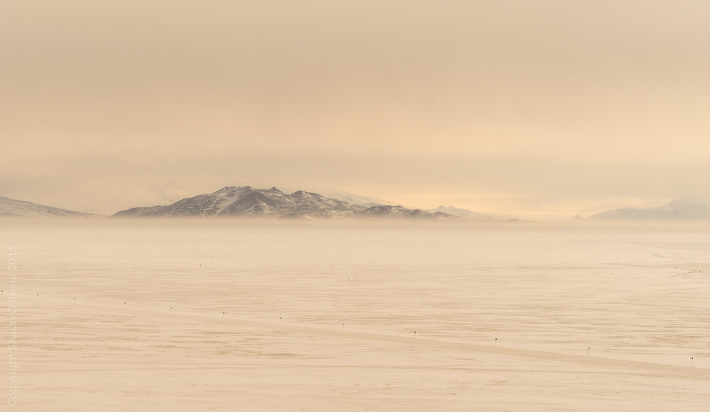 Wind blown snow on McMurdo Sound