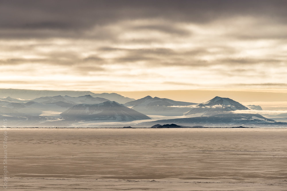View across McMurdo Sound to the Trans Antarctic Mountains