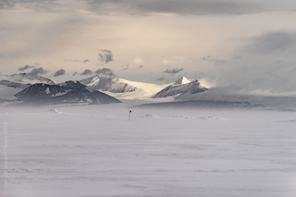 Transantarctic Mountains photographed from SIMPLE camp located on McMurdo Sound