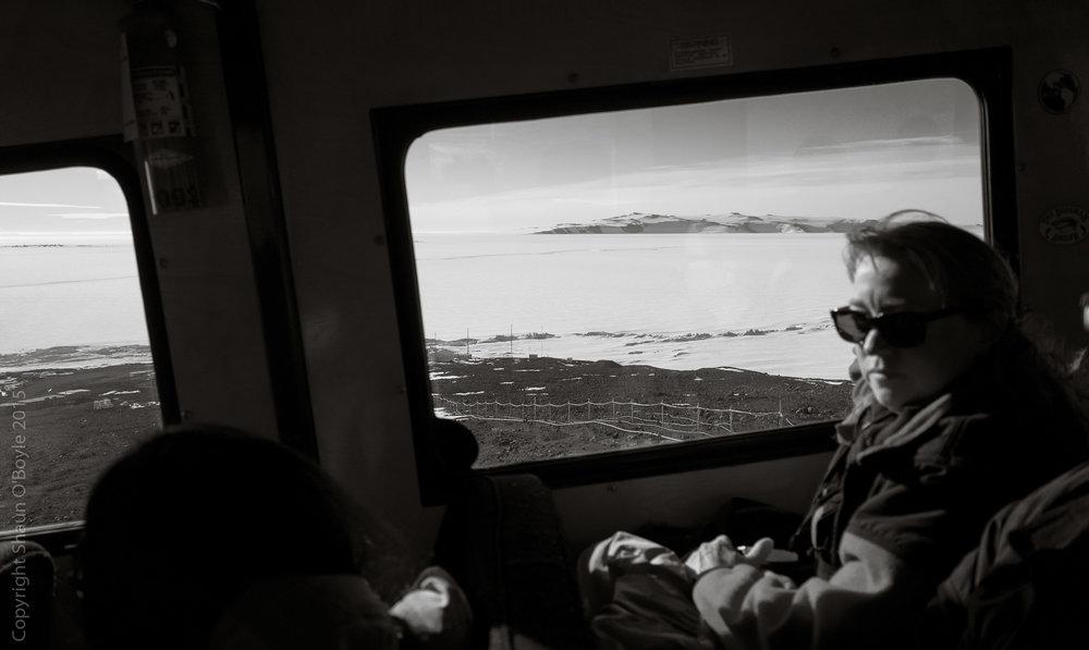 Laura Von Rosk on Ivan the Terra Bus