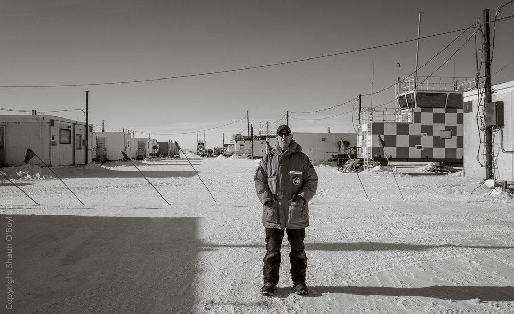 Shaun O'Boyle on last day in Antarctica 2015.