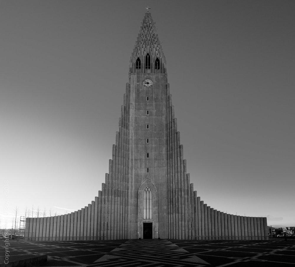 Hallgrímskirkja, a Lutheran church in Reykjavík, Iceland