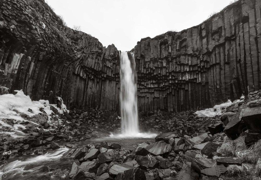 Svartifoss with basalt columns