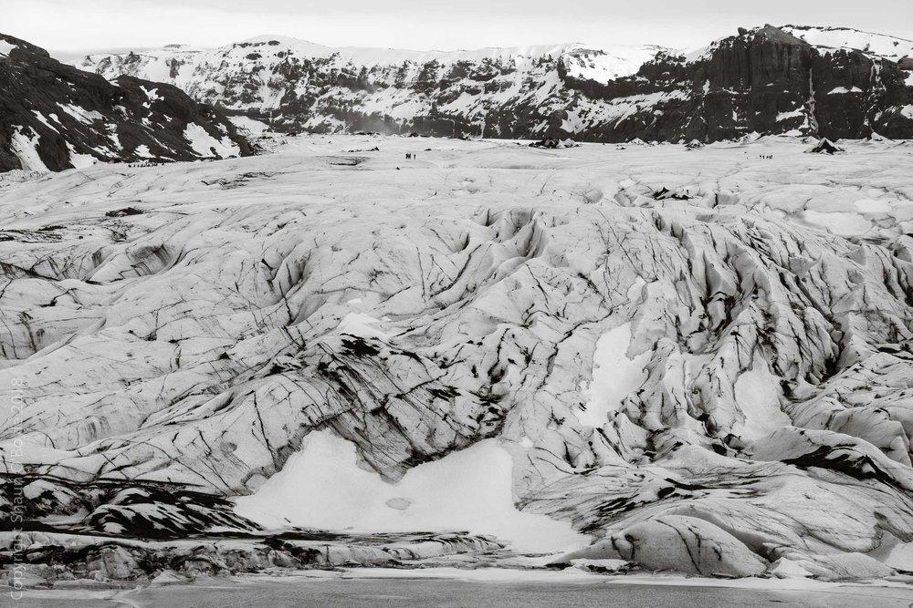 Solheimjokull, a tributary glacier of the Vatnajokull Glacier