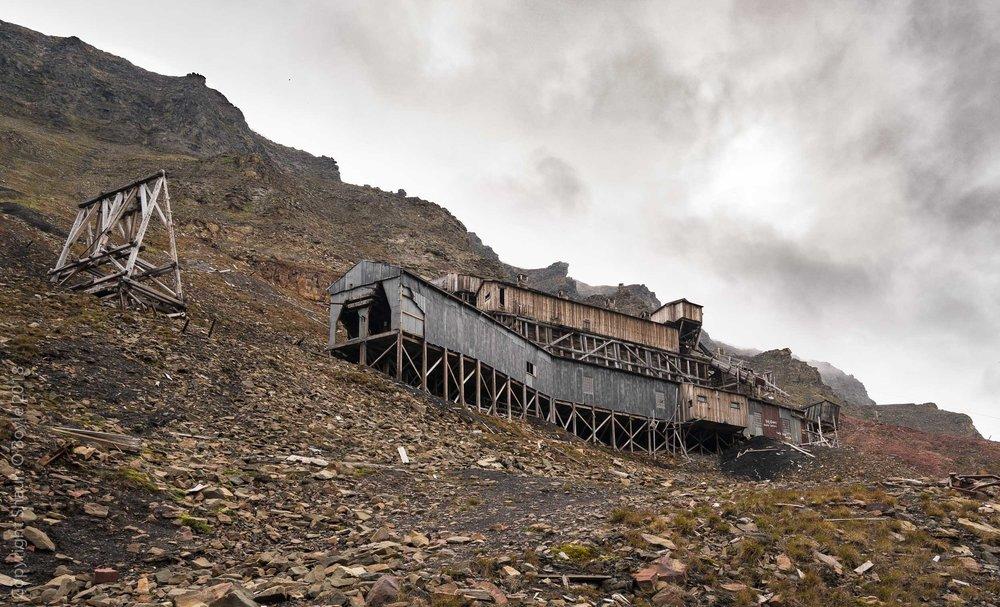 Mine 2B above Nybyen, Spitsbergen