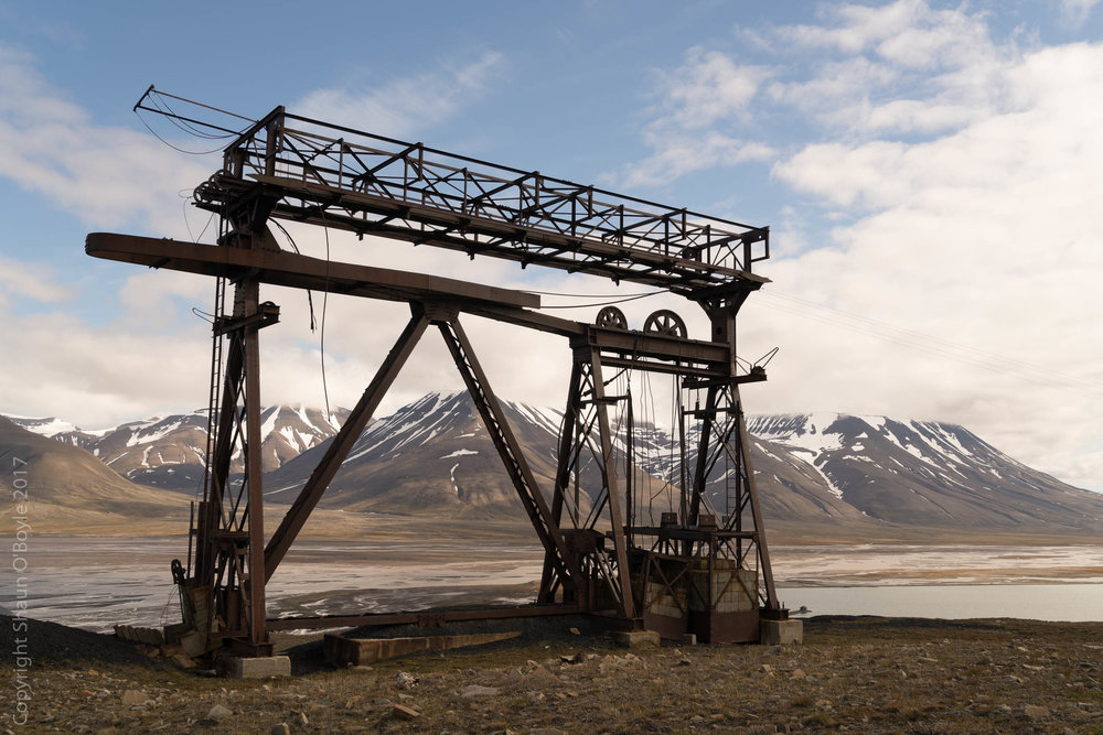 Cableway used to transport coal, Longyearbyen, Spitsbergen