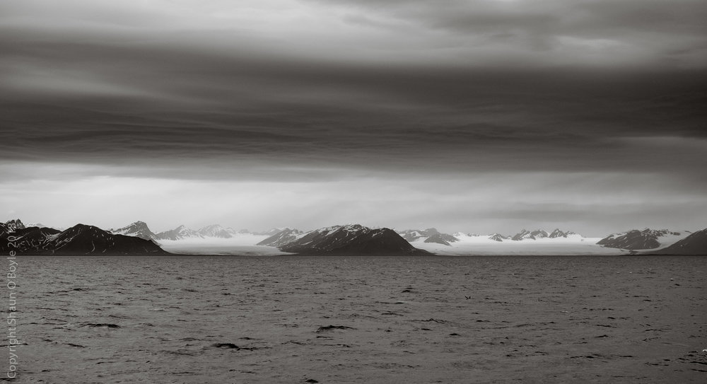 Esmarkbreen, Nansenbreen glaciers and Isfjorden