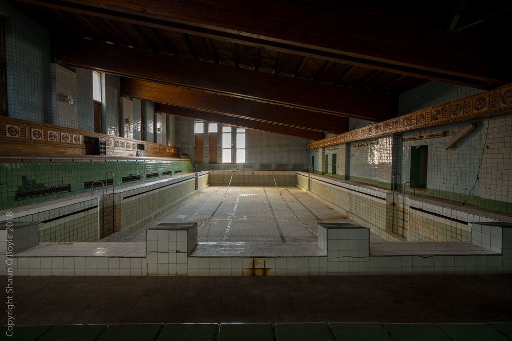 Swimming pool, Pyramiden, Svalbard