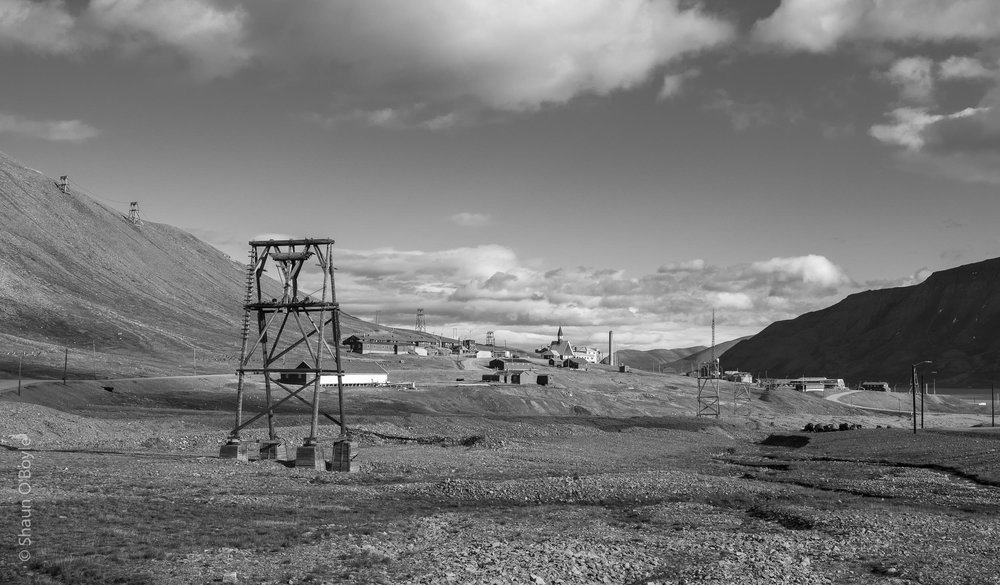 This location of the original settlement area of Longyearbyen when it was all coal mining