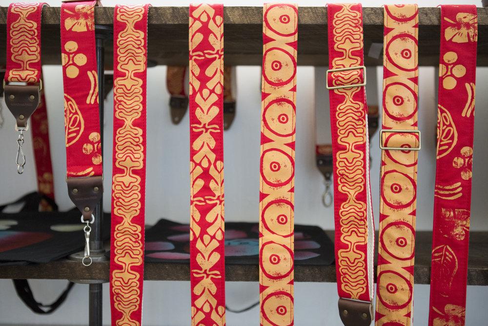 Silk Screen straps handmade by Original Fuzz, printed by Grand Palace of Nashville, TN  2017