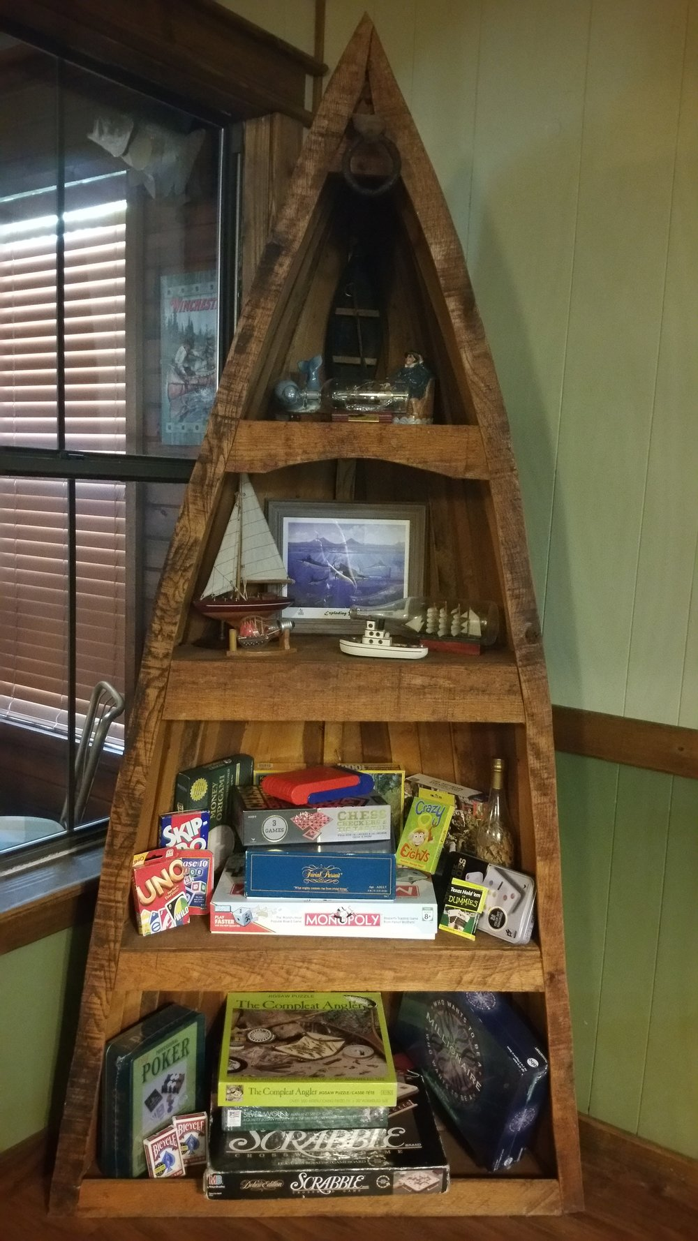 Boatload of Games in Cabin for family fun.jpg