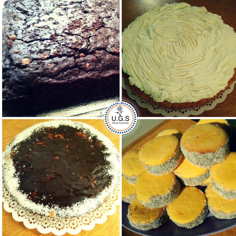 POSTRES VEGANOS   Lemon pie, alfajores de maicena, brownies con nueces veganos, muffins, budines, torta de manzana y torta especial.
