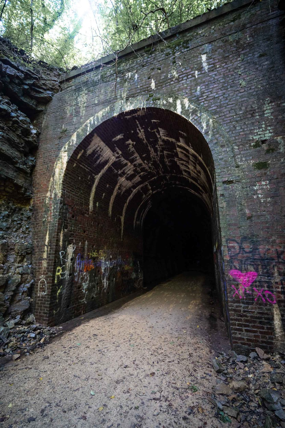 Old scary railroad Stuart Tunnel | Now a bike path | Belleville Monticello WI | Photo by BillyBengtson.com