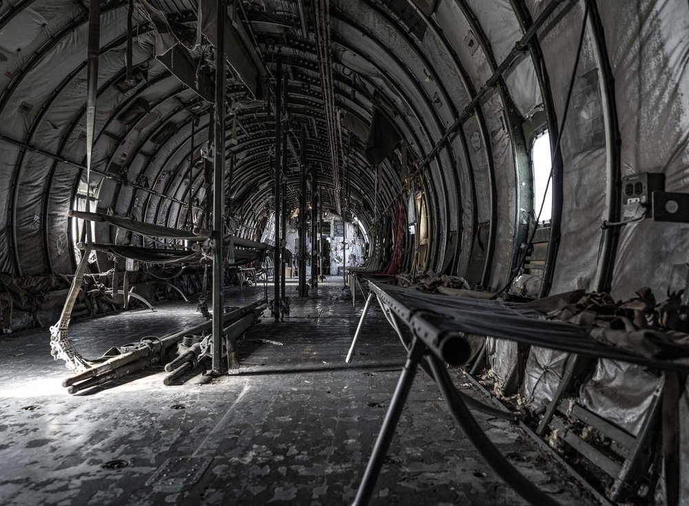 Inside of old military airplane | Don Q Inn, Dodgeville, WI | Photo by BillyBengtson.com