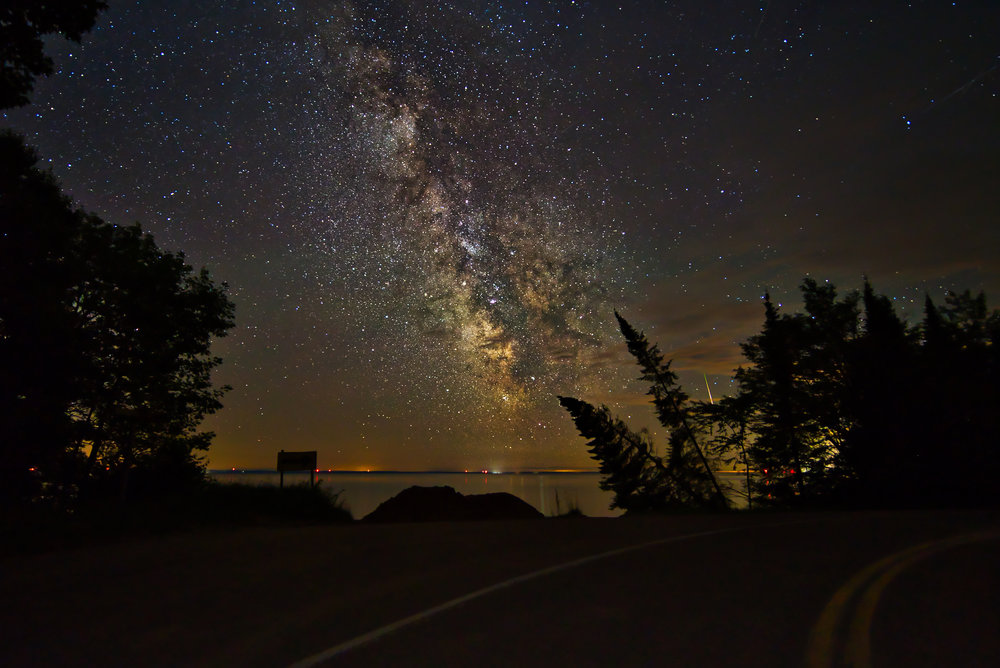 Milky Way astrology nightscape stars Madeline Island WI | Photo by BillyBengtson.com