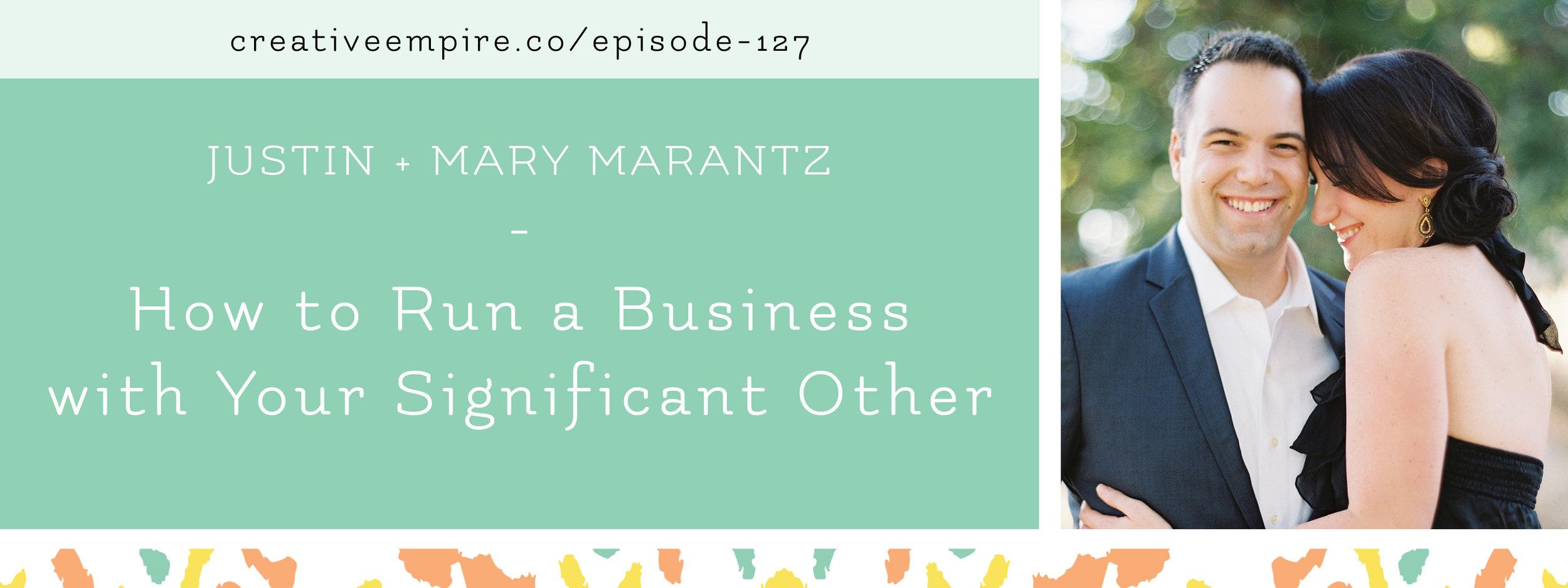 Email Header | Episode 127 | Justin + Mary Marantz