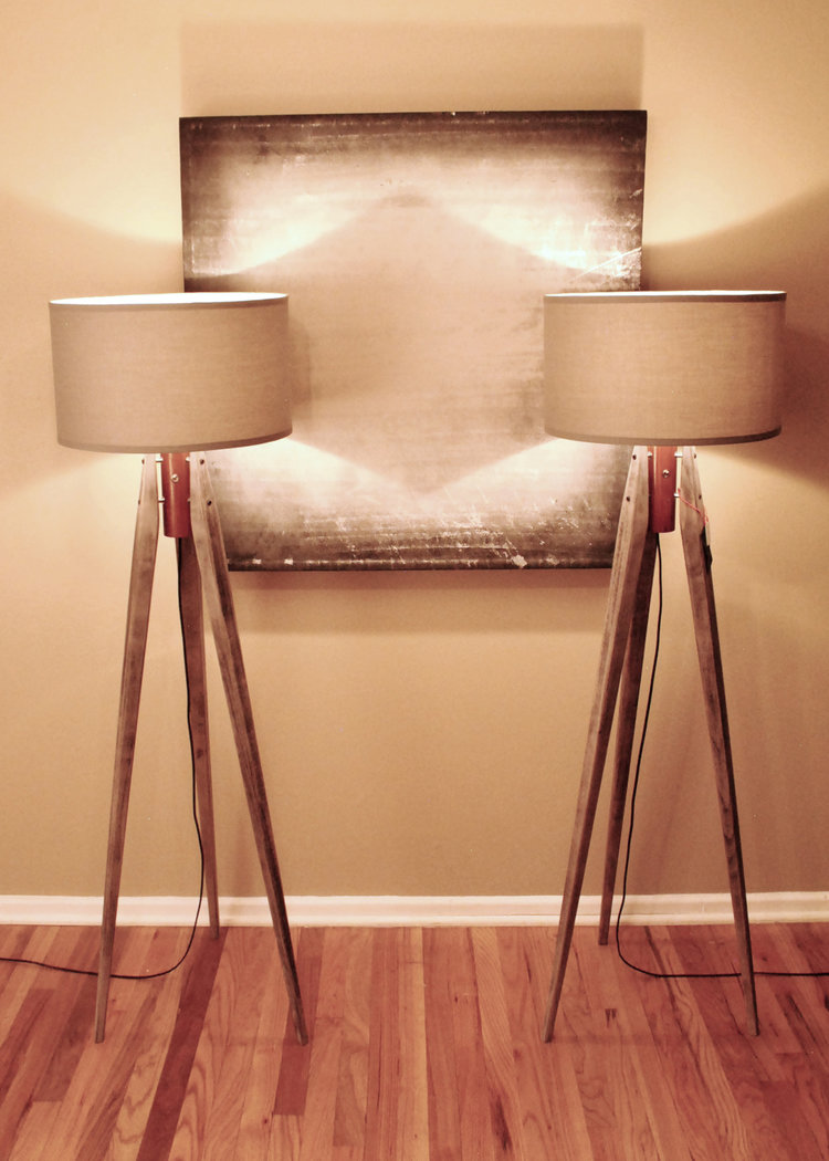 Tripod Floor Lamps — Cream Modern