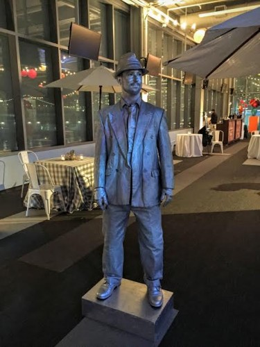 This silver robot man surprised guests by posing alongside San Francisco's favorite tourist destination, Fisherman's Wharf.