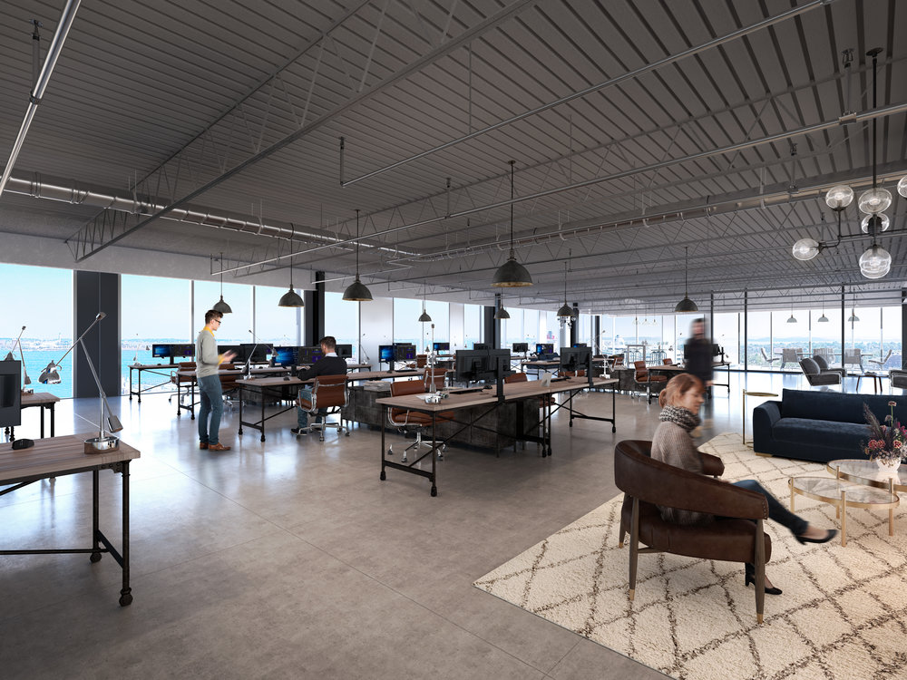Dynamic spaces with Panoramic City and Harbor Views
