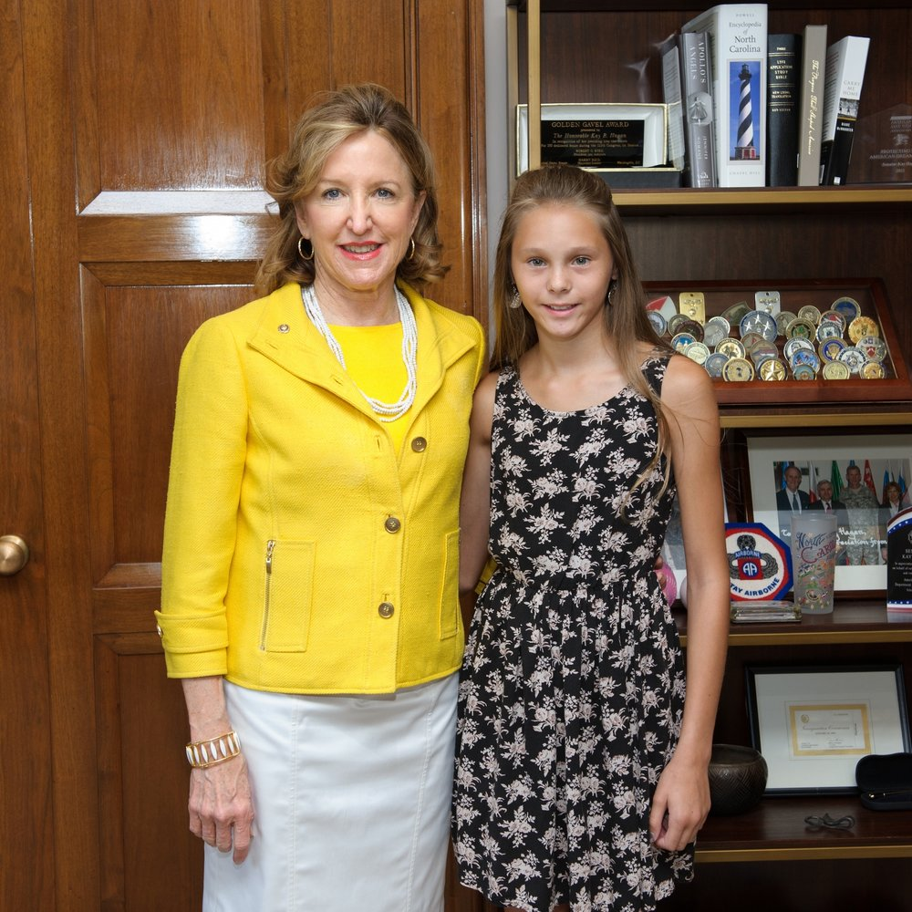 NC Senator Kay Hagan and Krysta Rutherford, Washington D.C, in 2014