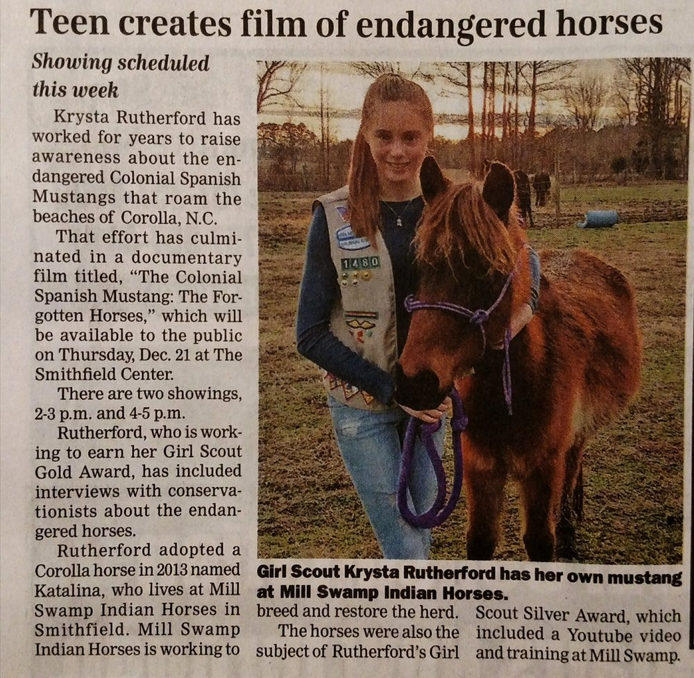 Teen Creates Film of Endangered Horses Krysta Rutherford.jpg