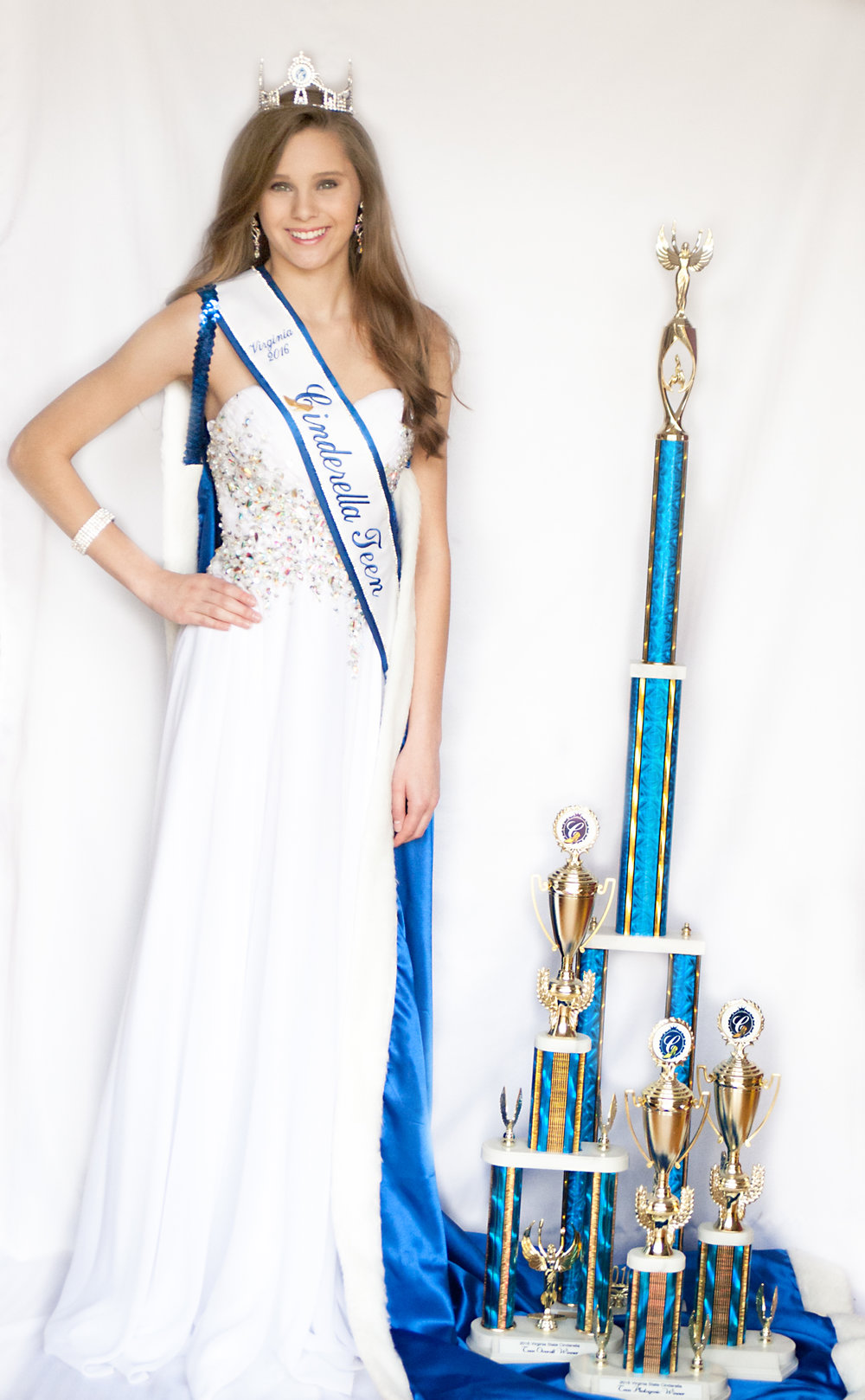 I have competed in the Miss Virginia Cinderella Scholarship Program for 10 years. I have achieved other titles - Miss Virginia Talent, Photogenic, and Cover Girl. State of Virginia Representative in the International Cinderella Scholarship Program -