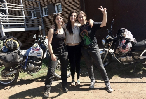 "Times have changed: These 3 ladies have crossed from Europe to Mongolia on a motorcycle by themselves. When people asked if they were traveling together each of them proudly said: ""No, I did it by myself"". Switzerland, Chile and Italy in the same picture."