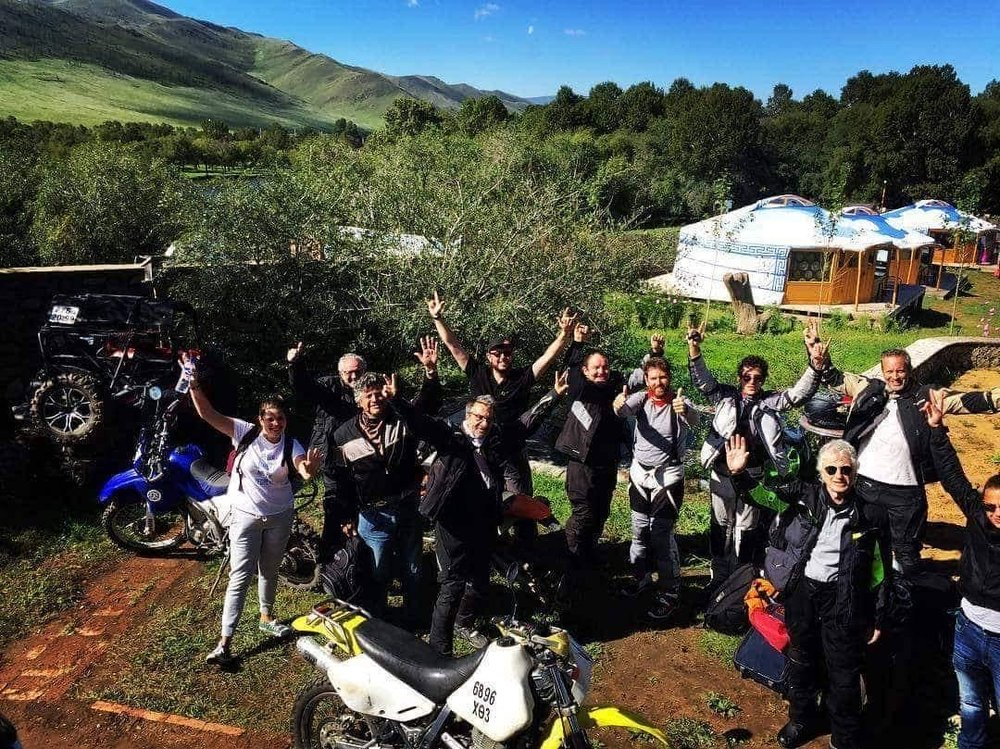 In the meantime, other adventure bikers were setting off to their enduro trips guided by our host.