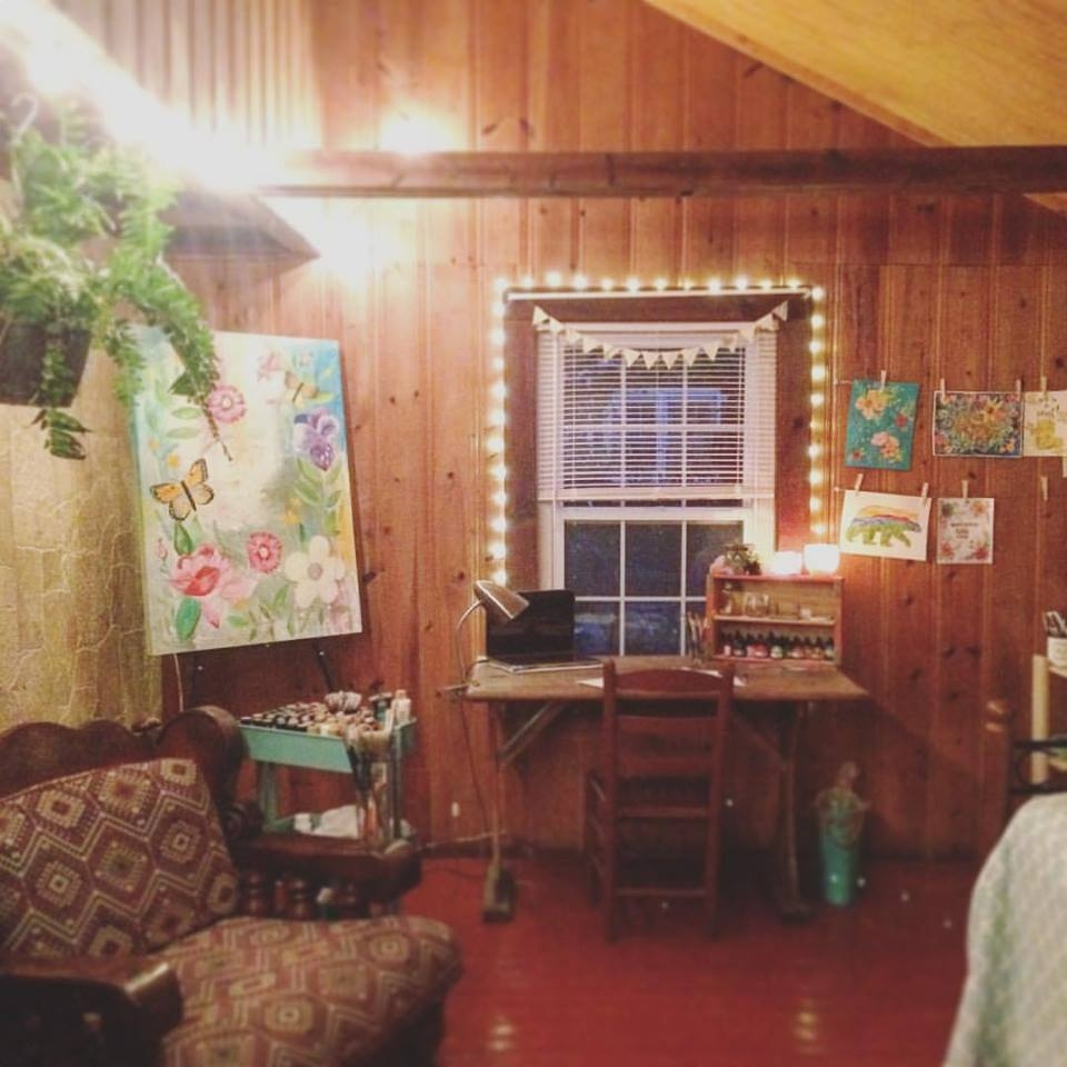 Inside my current work space in my home outside Asheville, North Carolina.
