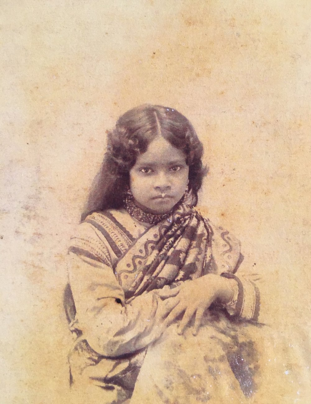 Vintage woman photo from kolkata