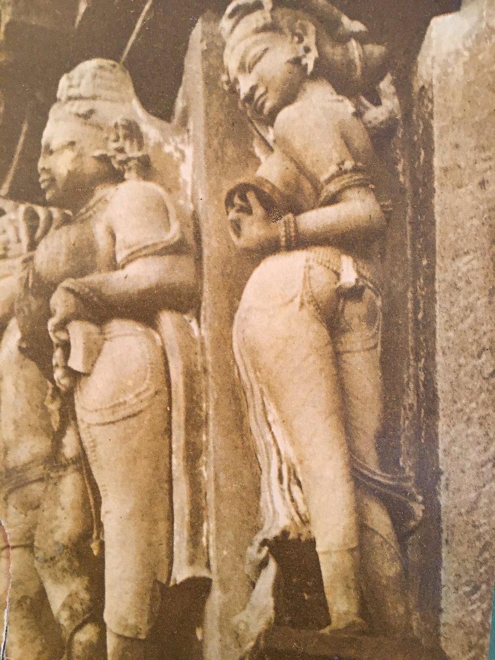 women in a temple in madhya pradesh