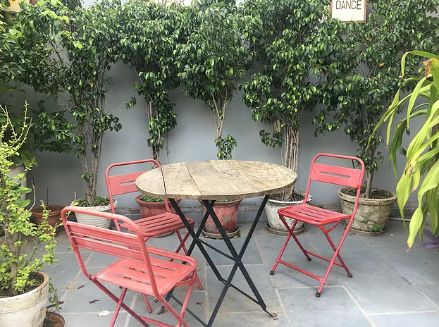 Lazy Patio Hauz Khas Village Delhi
