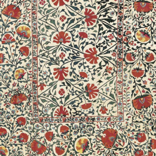 Restored textile from Ritu Kumar's archive