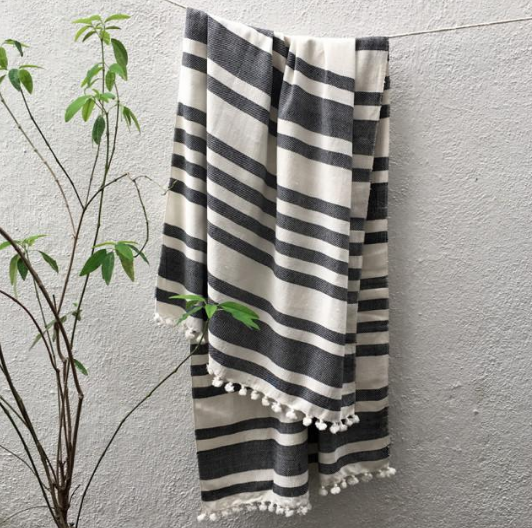 Summer house is a lifestyle design brand based in bangalore that makes clothes as well as home products. we have chosen this timeless monochrome striped towel. - Summer house | Home