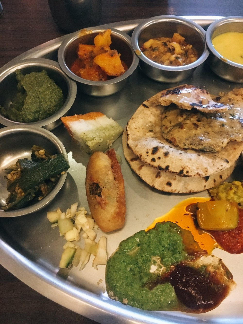 Rajasthani and Gujrati Thali
