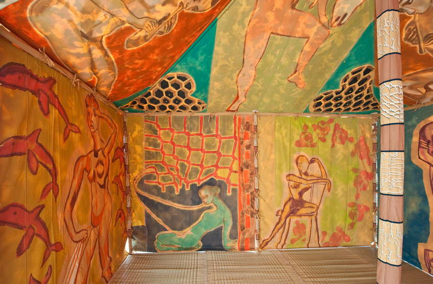 FRANCESCO CLEMENTE 'STANDING WITH TRUTH TENT'