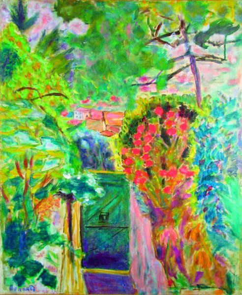THE GATE OF BONNARD'S GARDEN AT LE CANNET 1944
