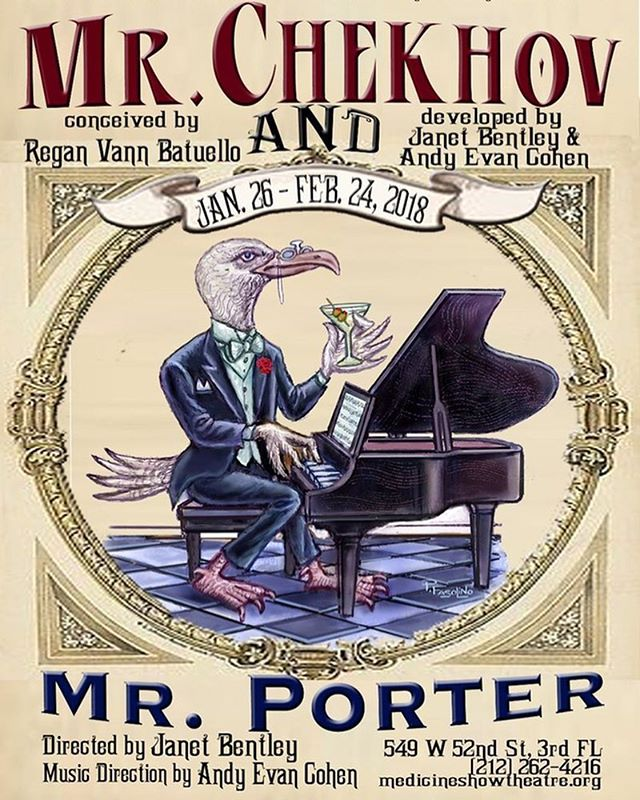 The countdown begins! Only ONE WEEK until Mr. Chekhov and Mr. Porter opens!! Get your tickets now, link is in our bio. Showtimes are: Wednesday-Saturday @ 8pm, Sunday @ 3pm. We hope to see you there! . . . #medicineshow #medicineshowtheatre #medicineshowtheatrenyc #medicineshowtheatrelab #chekhovporter #mrchekhovandmrporter #antonchekhov #coleporter #theatre #theatrenyc #musical #musicaltheatre #musicaltheatrenyc #experimentaltheatre #russian #russiantheatre #janetbentley #andyevancohen #reganvannbatuello
