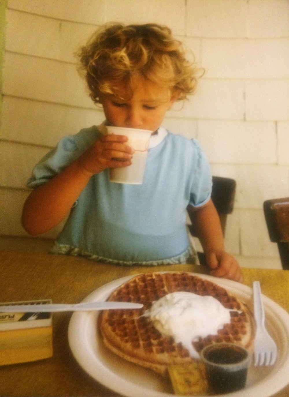 Always say yes to extra whipped cream. c. 1988