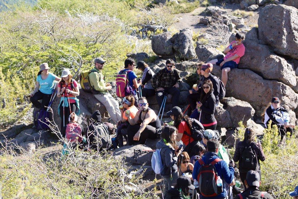 Mirador Velle Las Trancas, rumbo a la Laguna del Huemul.