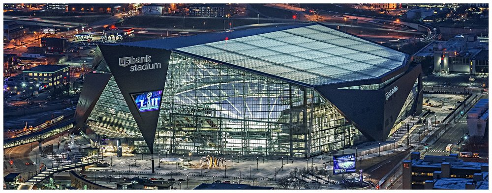 US Bank Stadium, home of Super Bowl 52