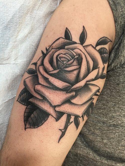 Traditional Black Grey Jebb Riley Tattoos
