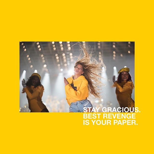 heard you queen @beyonce #WCW #abmgculture #beychella