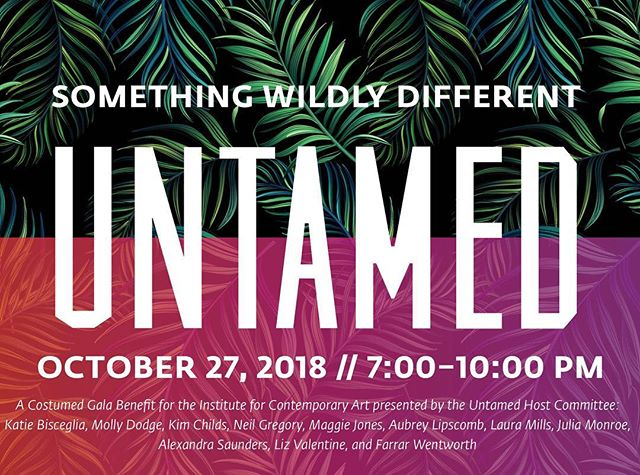 I just purchased my tix...have you?? 👀Join us to support Richmond's new Institute for Contemporary Art at its inaugural fund raising gala on October 27th. Message me for more info and a link to purchase tickets online #untamedica #icarva