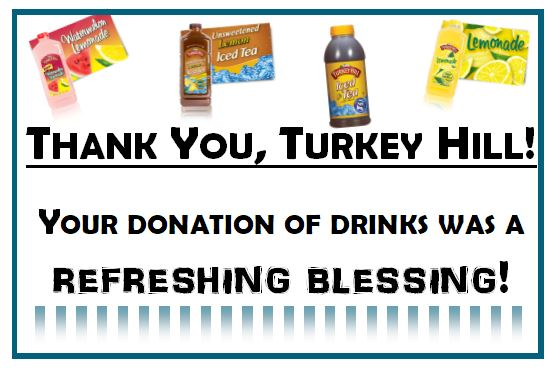Thank you - Turkey Hill.JPG