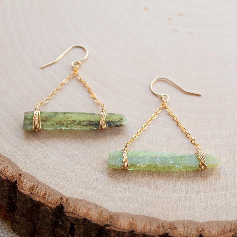 Heart Chakra Jewelry Raw Green Kyanite