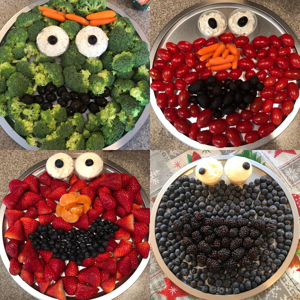 Character Fruit and Veggie Trays