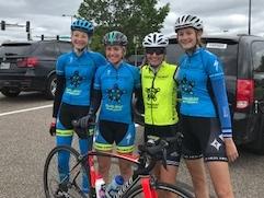 NorthStar girls who raced Le Tour de la relève internationale de Rimouski