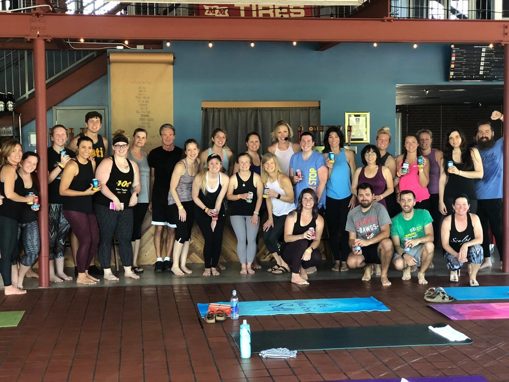 Thank you for attending Yoga + Beer on May 12th! It was an amazing start to the Summer Sweat Series and we can't wait to see you back for TABATA, PiYo, and Cardio Dance!